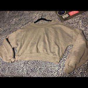 American Apparel crop super soft hoodie